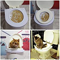 Kize2016 Cat Toilet Training Pet Dog Supplies Plastic Easy to Learn Training Kit for Pet Behaviour and Training