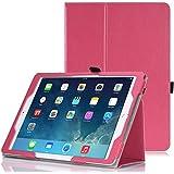MoKo Apple iPad Air 2 (iPad 6) Case - Slim Folding Cover Case for Apple iPad Air 2 (iPad 6) 9.7 Inch iOS 8 Tablet, MAGENTA