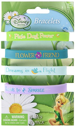 Amscan Tinker Bell Best Friends Fairies Rubber Bracelet Favors, Multicolor - 1