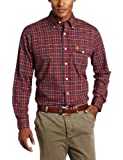 U.S. Polo Assn. Mens Woven Shirt With Small Checkered Pattern