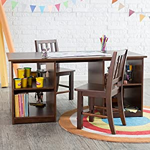 Classic Playtime Classic Playtime Double Sided Activity Table with Optional Chairs -, Espresso, Wood from Dongguan Arty Furniture c/o Kelly International