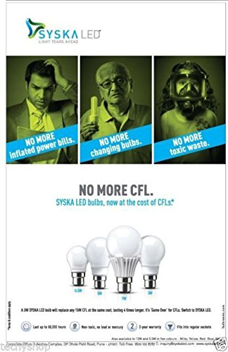 Syska-5W-B22-LED-Bulb-(Cool-Day-Light,-Pack-of-4)
