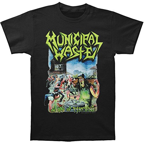 Arnoldo Blacksjd Municipal Waste Men's The Art Of Partying On Black T-shirt Black X-Large