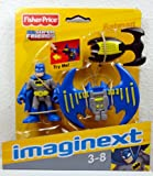 Fisher Price - DC Super Friends - Batman Mini Figure with Glider and Grappling Hook