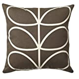 Orla Kiely Linear Stem Cushion - Chocolate