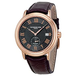 RAYMOND WEIL MAESTRO 2838-PC5-00209 GENTS BROWN CALFSKIN AUTOMATIC DATE WATCH