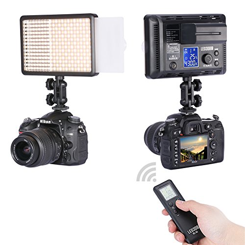 Bestlight® Photo Studio LED308C 308PCS LED Ultra High Power Dimmable Video Light with Built-in LCD Panel, Including 16CH Wireless Remote Control, A Portable Handle and A Mini Stand for Canon, Nikon, Pentax, Panasonic, Sony, Samsung, Olympus and Other Digital DSLR Cameras or Camcorders image