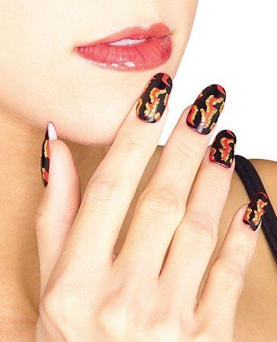 Rubie's Costume Co Red Devil Flame Nails Costume