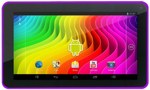 Easypix SmartPad EP772 NEO Berry 17,7 cm (7 Zoll) Tablet-PC (Rockchip RK3168 Cortex A9, DualCore, 1,2GHz, 1GB RAM, 8GB HDD, SGX 540 GPU, Android Touchscreen OS) violett
