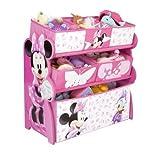 Disney Minnie Mouse Multi-Bin Toy Organizer (Pink) by Delta