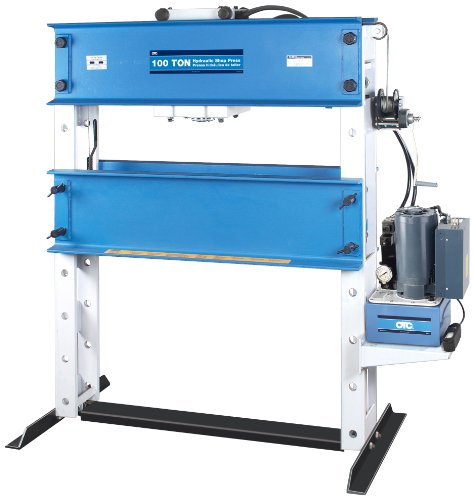 Otc 1858 100 Ton Capacity Heavy-Duty Shop Press With Electric/Hydraulic Pump