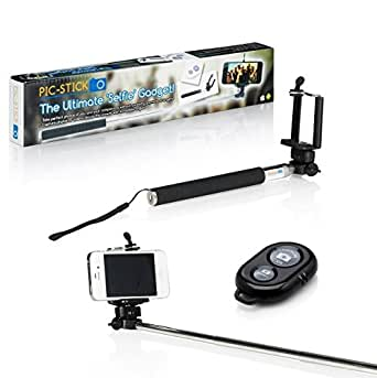 the original pic stick extendable monopod arm selfie pole bluetooth rem. Black Bedroom Furniture Sets. Home Design Ideas