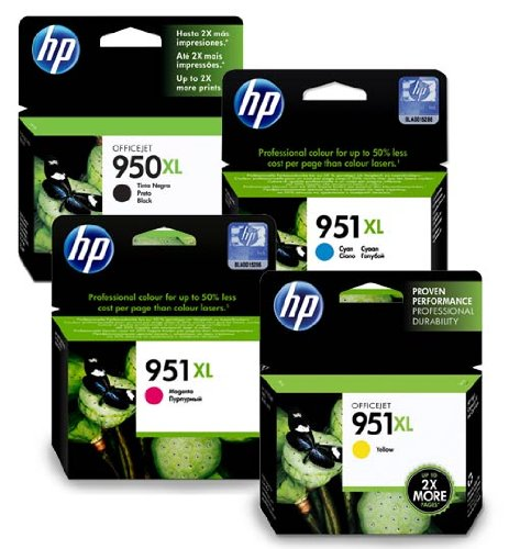 HP950XL & HP951XL Full Set of Original High Capacity Printer Ink Cartridges HP 950XL / HP 951XL - Fits HP Officejet... Black Friday & Cyber Monday 2014