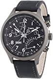 Timex Intelligent Quartz Men's Flyback Chronograph Watch with Chronograph Display and Leather Strap