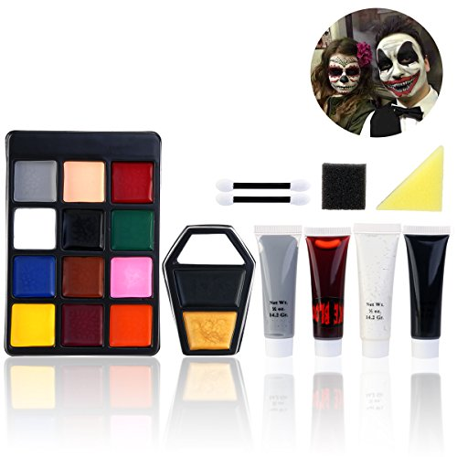 PBPBOX Halloween Makeup Face Paint Kit for Zombie Vampire (Makeup Halloween Costumes)