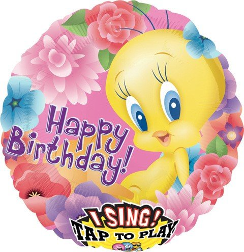 28 Inch Tweety Musical Balloon - 1