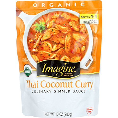 Imagine Foods Culinary Simmer Sauce - Organic - Thai Coconut Curry - 10 oz - case of 6 (Coconut Curry Simmer Sauce compare prices)
