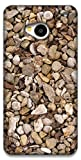 The Racoon Lean Rocky Pebbles hard plastic printed back case / cover for HTC One 802D