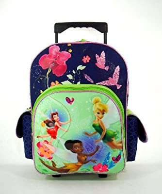Disney Fairies Tinkerbell Rolling Backpack - Ride the Breeze tinkerbell Luggage Featuring Tinker Bell & Fairies from Disney