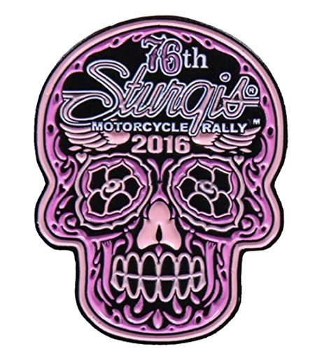 Hot Leather Women's Official 2016 Sturgis MC Rally Poco Loco Enamel Pin (Pink)
