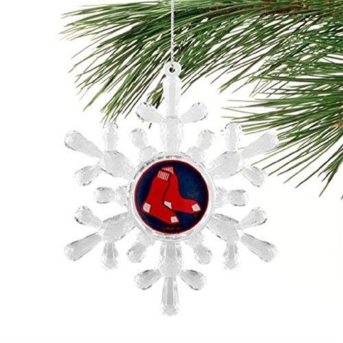 "Boston Red Sox MLB Snowflake 4 1/2 "" Ornament"