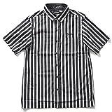 Zephyren Block Stripe Shirt S/S Charmed SQ Tone(ゼファレン ストライプシャツ) (ブラック/ホワイト, L)