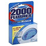 2000 Flushes Toilet Bowl Cleaner, Automatic, Blue Plus Bleach, 2 tablet system 3.5 oz (100 g)