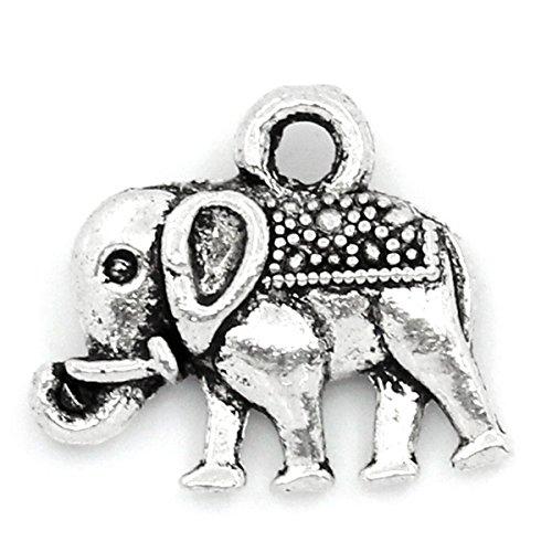 housweety-50-x-vintage-elephant-charms-tibetan-style-pendants-lead-free-nickel-free-antique-silver-1