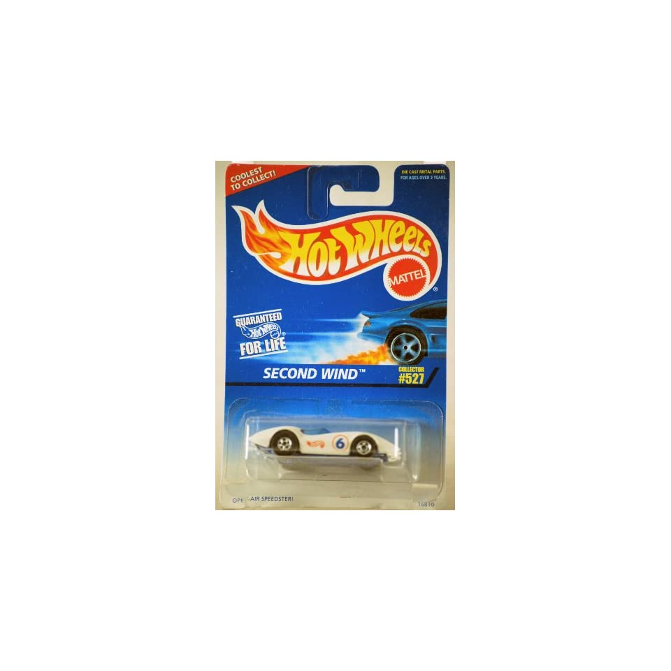 1996   Mattel   Hot Wheels   Second Wind   Open Air Speedster   White   164 Scale Die Cast   Collector #527   MOC   Out of Production   Limited Edition   Collectible