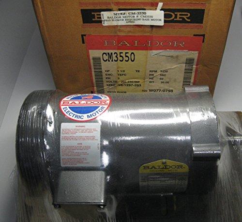 Baldor Cm3550 General Purpose Ac Motor, 3 Phase, 56C Frame, Tefc Enclosure, 1-1/2Hp Output, 3450Rpm, 60Hz, 208-230/460V Voltage