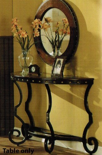 Cheap Console Table with Nail Head Trim in Two Tone Finish (VF_F6246)