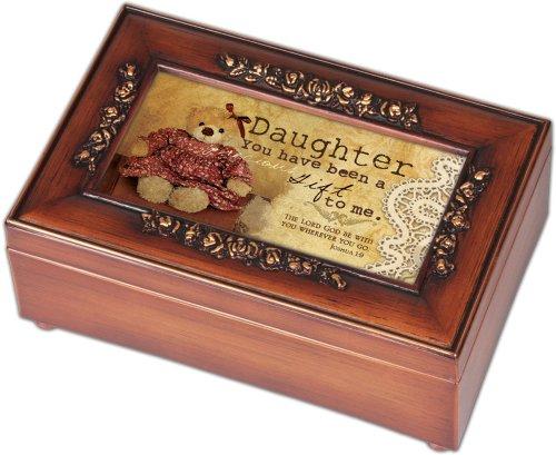 cottage garden daughter woodgrain petite rose music box jewelry box plays new ebay. Black Bedroom Furniture Sets. Home Design Ideas