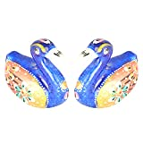 Rajgharana Handicrafts Multi Color Metal Meenakari Delightful Pair Of Duck (Set Of 2) - (4 Cm X 4 Cm)