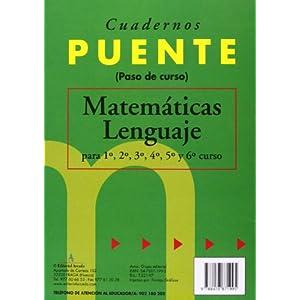 Cuaderno De Matemáticas. Puente 6º Curso Primari