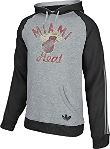 Miami Heat adidas Springfield Originals Raglan Pullover Hooded Sweatshirt - Grey by Adidas