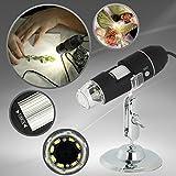 JZHY 1000X倍率の顕微鏡 USB顕微鏡 8-LEDが付きデジタル内視鏡(Android用OTGケーブル付き)