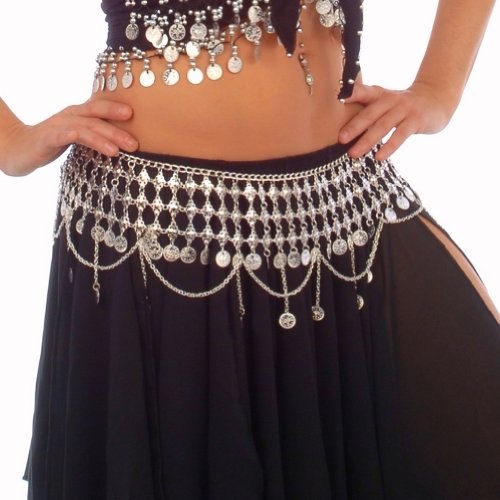 Belly Dance Coin Belt (Silver/Gold) - R2 - Cleopatra II | SILVER