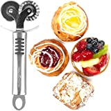 Pastry and Ravioli Cutter Wheel by Natures Kitchen - Commercial Grade Stainless Steel