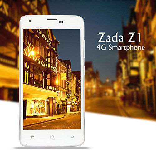 High-Tech Place Zada Z1 4G Smartphone - Quad Core 64 Bit CPU, 4.5 Inch IPS Display, Dual SIM 4G, Smart Wake, Smart Gesture, Android 4.4 OS