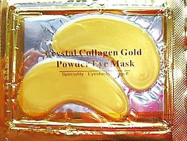 5 x Pack New Crystal 24K Gold Powder Gel Collagen Eye Mask Masks Sheet Patch, Anti Ageing Aging, Remove Bags, Dark Circles & Puffiness, Skincare, Anti Wrinkle, Moisturising, Moisture, Hydrating, Uplifting, Whitening, Remove Blemishes & Blackheads Product.