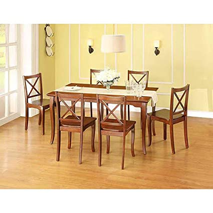 Better Homes and Gardens Ashwood Road 7-piece Dining Set - Brown Cherry, Home Traditional Dinner Table comes with 6 Chairs ideal seats for the whole family.It will Complement to any kitchen setting in any color scheme