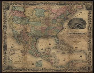 Map of the United States of America, The British Provinces, Mexico, The West Indies and Central America with part of New Grenada and Venezuela