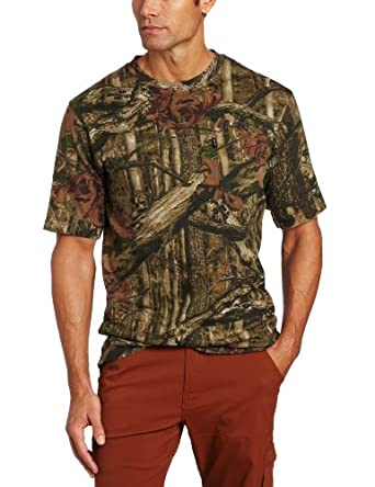 Key Apparel Men's Plus-Size Short Sleeve Pocket Tee, Mossy Oak Infinity Camo, Medium