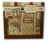 Complete Scrapbook Kit - Album, Chipboard Accents, Sheets Colored Paper, Stickers and Cut-outs (Shabby Chic)