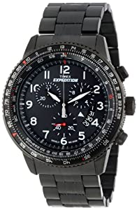 Timex Men's T49825DH Expedition Military Chrono All Black Stainless Steel Bracelet Watch
