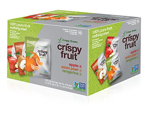 Crispy Green 100% All Natural Freeze-Dried Fruits, Fruit Variety Pack, 0.36 Ounce (16 Count) (Pineapple Dried Fruit compare prices)