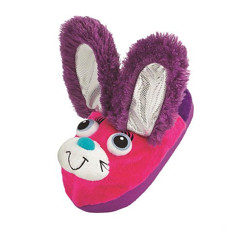 Stompeez Slippers Purple Bunny Small