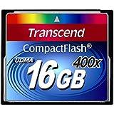 Transcend 400X - 16 GB Compact Flash Memory Card TS16GCF400 (Blue)