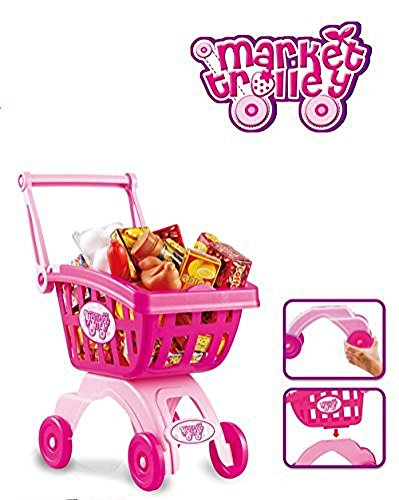 Holy-Stone-Mini-Shopping-Cart-Pretend-Play-Toy-Color-Pink-Toy-for-Toddler