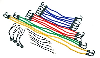 Highland (90084) Bungee Cord Assortment Jar - 24 Piece